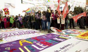 basauri mujeres marcha mundial 2015 kurdistan