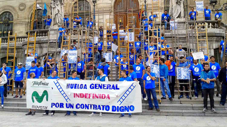 bilbao movistar 2015 huelga tecnicos
