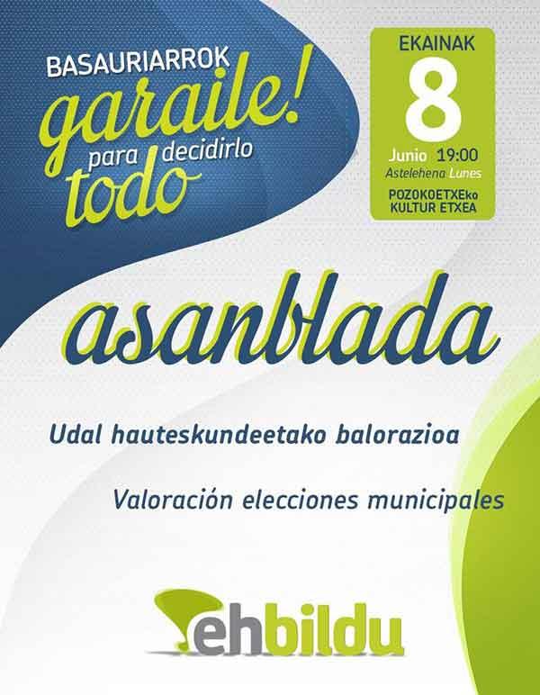 basauri eh bildu 2015 asamblea pozokoetxe elecciones